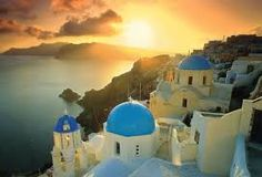 Sunset views from Fira, Santorini island, Greece - selected by oiamansion.com