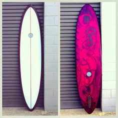 """FOR SALE// USED  7'10 x 22 x 2 3/4"""" Anchors Phase II  Cedar stringer, resin swirl cutlap, built to last.  Rolled entry and vee out the back. Comes with 9"""" volan flex fin. $1350 new this ones as new for $700 #boom"""