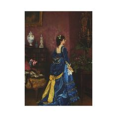 Le Robe Bleu by August Toulmouche