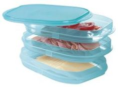 Stackable Fridge set by Tupperware.  Keep all your meats, cheeses, or tomato slices in one spot!