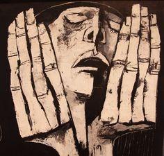 Oswaldo Guayasamín - Maler und Bildhauer aus Ecuador ... Aus dem Bilderzyklus Huacayñán -  Der Weg der Tränen, in dem er besonders das Elend und die Unterdrückung der indigenen Bevölkerung Lateinamerikas thematisierte. ....... From the picture cycle Huacayñán - The path of tears, in which he painted the misery and oppression of the indigenous peoples of Latin America.