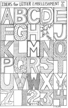 ART - Zentangle - Patterns / Lettering on We Heart It