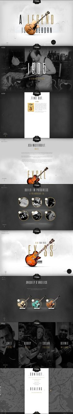 nice parallax site for D'Angelico Guitars