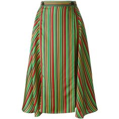 Marco De Vincenzo striped midi skirt ($720) ❤ liked on Polyvore featuring skirts, multicolour, stripe skirts, marco de vincenzo, calf length skirts, multicolor skirt and colorful skirts
