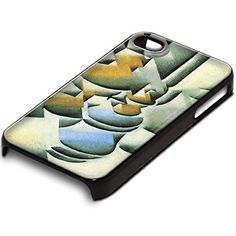Juan Gris - Still Life With Oil Lamp, Design Schwarz Hard Case Cover Hülle Tasche Handyschutzhülle für Apple iPhone 4 4S.