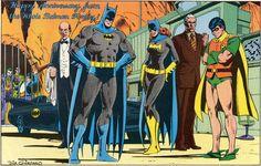 Happy Anniversary from the Whole Batman Family. Art by Dick Giordano