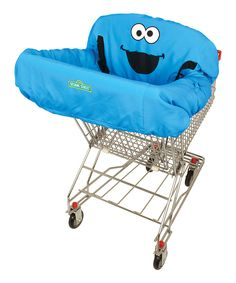 Look at this Blue Cookie Monster Shopping Cart Cover on #zulily today!