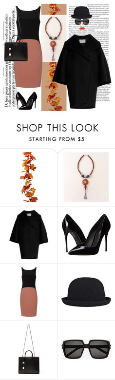 """Cornalina"" by sibaru ❤ liked on Polyvore featuring Dsquared2, Dolce&Gabbana, kangol, Yves Saint Laurent, women's clothing, women's fashion, women, female, woman and misses"
