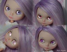 OOAK Custom Blythe Doll Purple to Pink Reroot by Hello Blythe   eBay