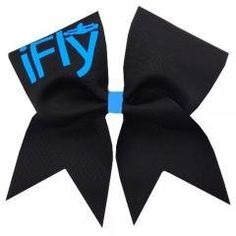 Chosen Bows New Black iFly Cheer Bow- Neon Blue Print - stockpiles stores Gift Wrapping Bows, Couples Coupons, University Tees, Shirt Quilt, Cheer Bows, Elite Socks, Hoodies, Sweatshirts, Discount Toms