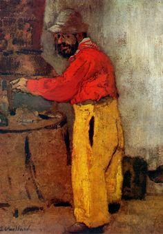 """Portrait Of Lautrec""  painted by Edouard Vuillard.( I love this painting ) ~Repinned Via Jelena Rizvanovic."