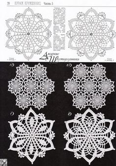 "diy_crafts-Needlework - unser Hobby ""Patterns and motifs: Crocheted motif no."", ""Two flower motifs"" Crochet Snowflake Pattern, Crochet Motif Patterns, Crochet Stars, Crochet Snowflakes, Thread Crochet, Filet Crochet, Crochet Tablecloth, Crochet Doilies, Crochet Flowers"