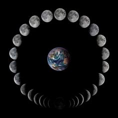 Phases of the moon - The Lunar Phase cycle. Copy Credit : John Skouros - photo via Milky way scientists on fb Moon Phase Project, Wicca, Magick, Maybe In Another Life, In The Beginning God, Image New, Lunar Phase, Sun Moon Stars, Gods Glory