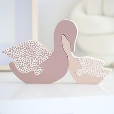 Mauve Swan Family Puzzle Mate