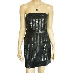 FCUK Strapless Sequin Mini Dress. Sizes 8-14
