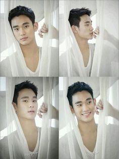 Kim Soo Hyun i really like his smile >\\\\