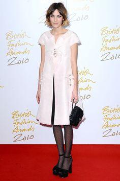 Alexa Chung in Chanel - British Fashion Awards 2010.  (December 2010)