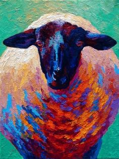 Choose your favorite sheep paintings from millions of available designs. All sheep paintings ship within 48 hours and include a money-back guarantee. Sheep Paintings, Animal Paintings, Painting Prints, Painting & Drawing, Art Prints, Sheep Art, Arte Pop, Art Auction, Medium Art