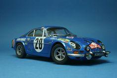Alpine A110 - Monte Carlo Rally 1971 1/24 Scale Model