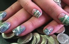 Dollar Bill Nails. You guys do know it's technically a felony to destroy US currency, right?