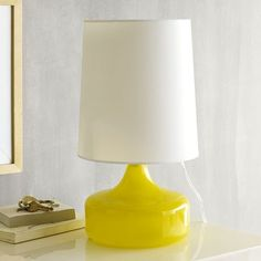 Perch Table Lamp - Yellow / west elm