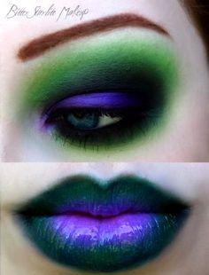 Halloween make-up ~ great for the joker