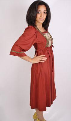 Boho Dress / 1970s Fashion / 70s Fashion / Bohemian / by aiseirigh, $62.00