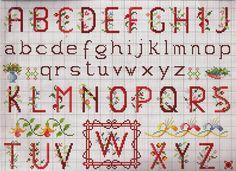 alfabeto fiorellini rosso.jpg (2337×1699)