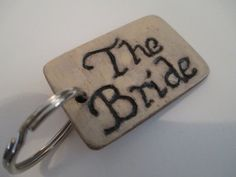 Make Memento Bride Keyring by MakeMemento on Etsy, £3.99