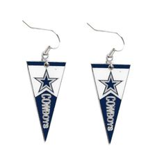 "- Officially licensed NFL earrings! - Approximately 1 1/4"" long! - Hypoallergenic! Show off your team spirit by wearing these earrings loud and proud! Also a great item to add to your team's memorabil"