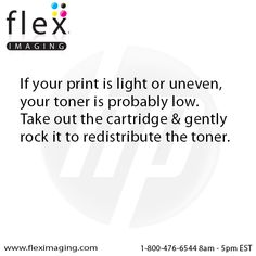 If your print is light or uneven, your toner is probably low.  Take out the printer cartridge and gently rock it to redistribute the toner.