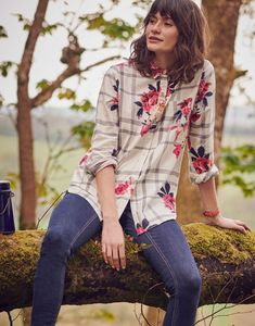 Lorena Grey Marl Check Check Shirt Joules Clothing, Check Dress, Ladies Clothes, Clothes For Women, Check Shirt, Latest Fashion Trends, Stylish Outfits, Jeans And Boots, Floral Tops