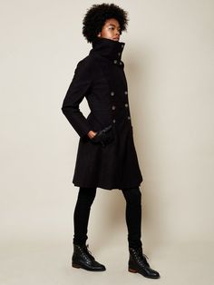 JUST ARRIVED! The Belden Future in Black 100% cotton shell $600 winter coat, vegan