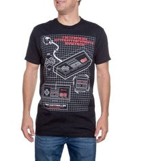 Men's Nintendo Throw Back System Diagram Graphic Tee    WalMart  Size : S
