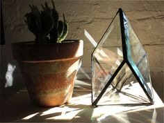 triangle geode prism stained glass
