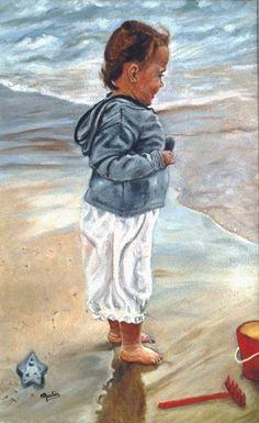 Manon à la plage