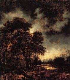 Moonlit landscape by Aert van der Neer (1603-1677)