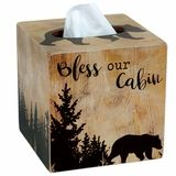 New Cabin Decor at Black Forest Decor Black Forest Decor, Tissue Boxes, Blessed, Cabin, Bear, Rustic, Blessings, Wood, Bathroom Accessories