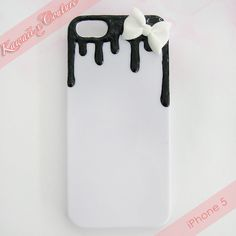 Black Icing iPhone 5 Decoden Case | $10.00 SHOP: Kawaii x Couture DecodenHandmade decoden phone cases, jewelry, & accessories ♡