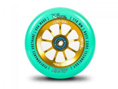 River Wheels Greg Cohen-Nine Lives Sig. Rapids - Mint on Gold (Pair) Scooter Wheels, Scooter Parts, Pro Stunt Scooters, Life Wheel, Bmx Pro, Skateboard Parts, Best Scooter, Nine Lives, Mint Gold