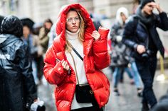 Street style at the New York Fashion Week fall-winter 2017-2018