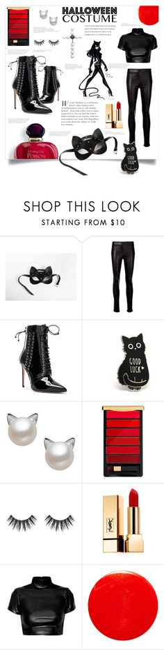 """""""Catwoman!"""" by ornellag ❤ liked on Polyvore featuring Helmut Lang, Oscar Tiye, L'Oréal Paris and Yves Saint Laurent"""