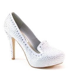 This Silver & White Shimmer Pump by Summer Rio is perfect! #zulilyfinds $27.99 was $84.00