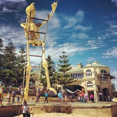 Sculptures by the Sea | Tweet Perth: this is an event in Australia where artists display their work along the bay and beach!