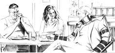 Clark, Diana & Bruce. Kingdom Come epilogue sketch. Art by Alex Ross