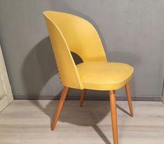 Vintage Stühle - Cocktailstuhl Gelb *Mid Century - ein Designerstück von Mid-Century-Frankfurt bei DaWanda