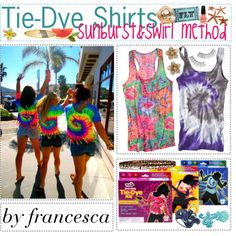 O.3 Tie-Dye Shirts-Sunburst method!(: