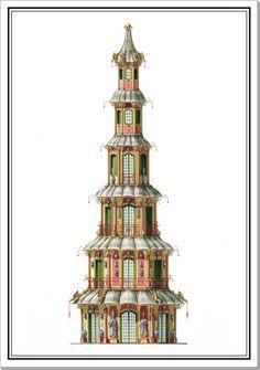 Andrew Zega and Bernd H. Dams, watercolor, Oriental Tower