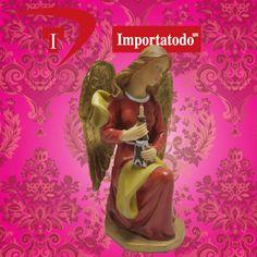 Figura Religiosa Ángel Sentado marca TRENTINO elaborado en Poliresina. Modelo 37-180