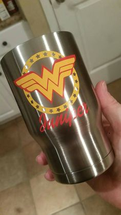 Personalized Glossy Vinyl Decal for 30 oz. Yeti Travel Tumbler | Wonder Woman